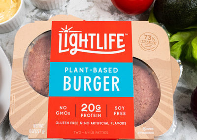 Lightlife Wows With a Plant-based Burger that Wins on Taste, Nutrition, and Ingredients in New Product Line That Shines in the Meat Aisle