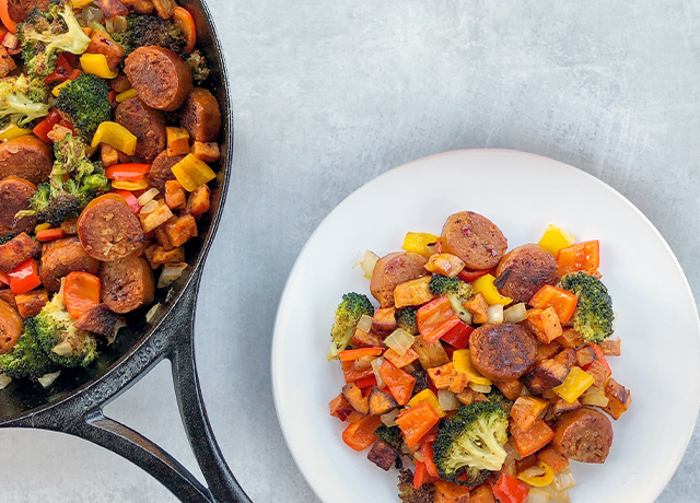One Pan Sausage Skillet