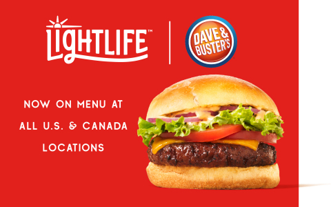 Dave & Buster's Upgrades to Lightlife® Burger in New Partnership