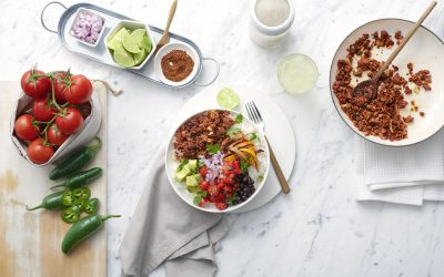 Burrito Bowls with Cherry Tomato Salsa